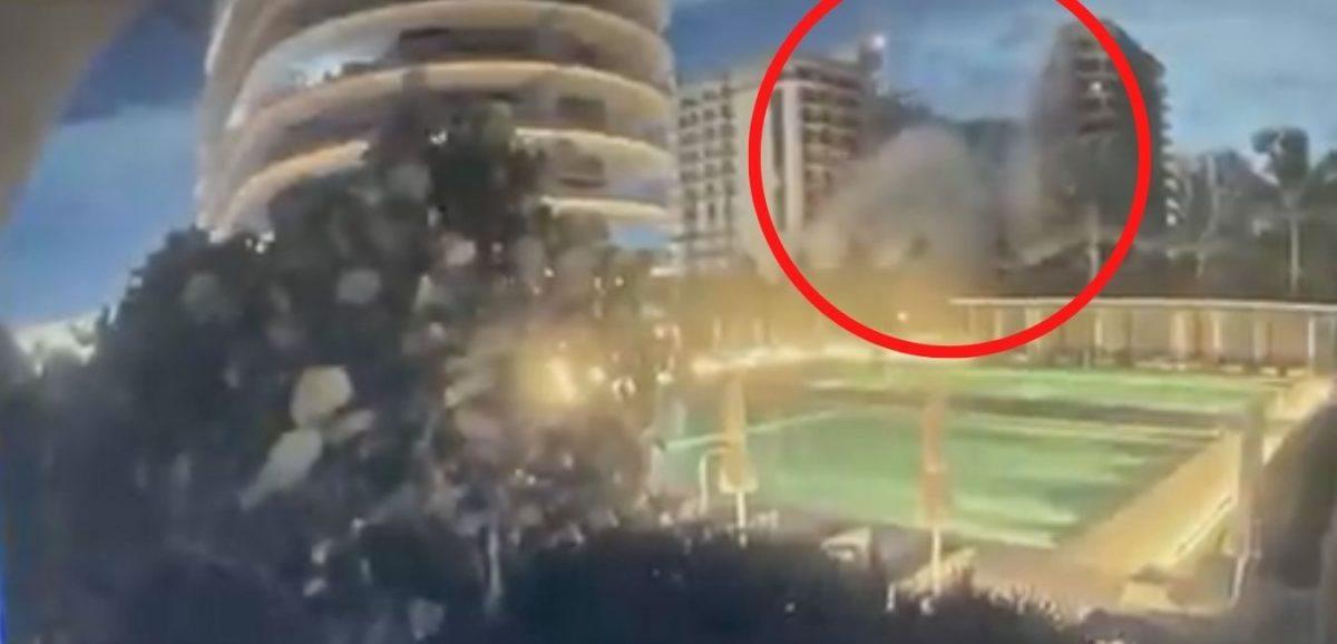 Video registró el colapso parcial de un edificio en Florida
