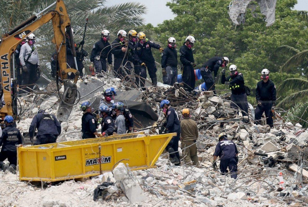 Reanudan la búsqueda tras la demolición del edificio en Miami