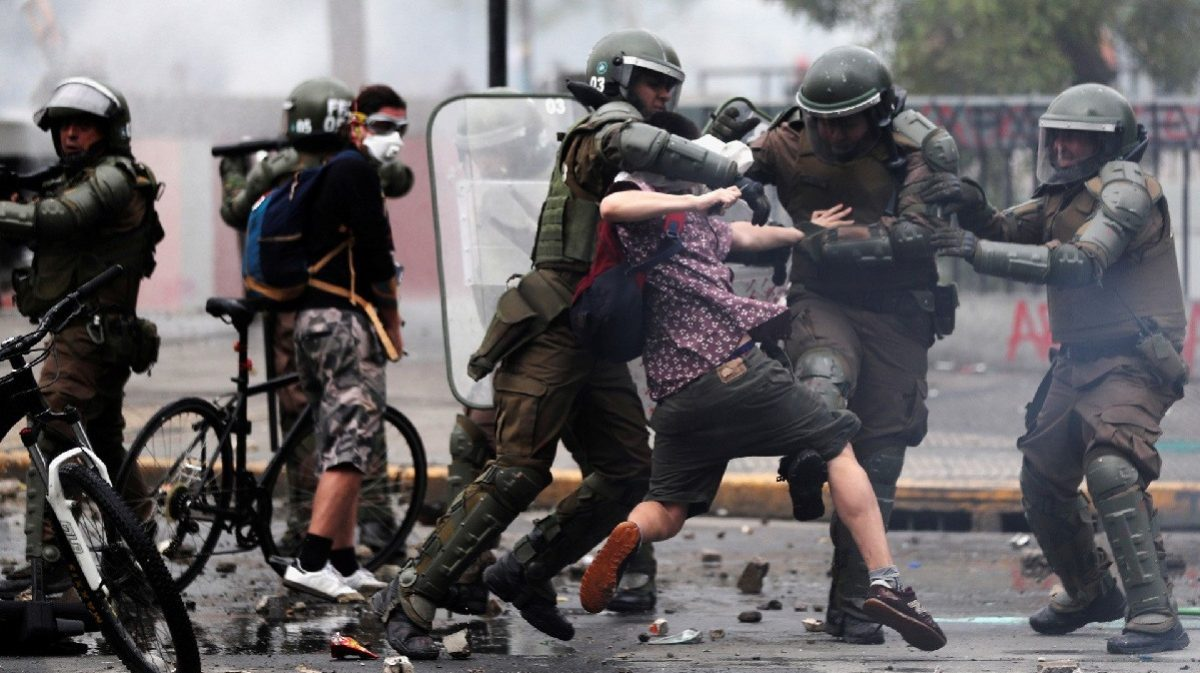 Otro policía detenido en Chile por dejar ciega a una trabajadora en 2019