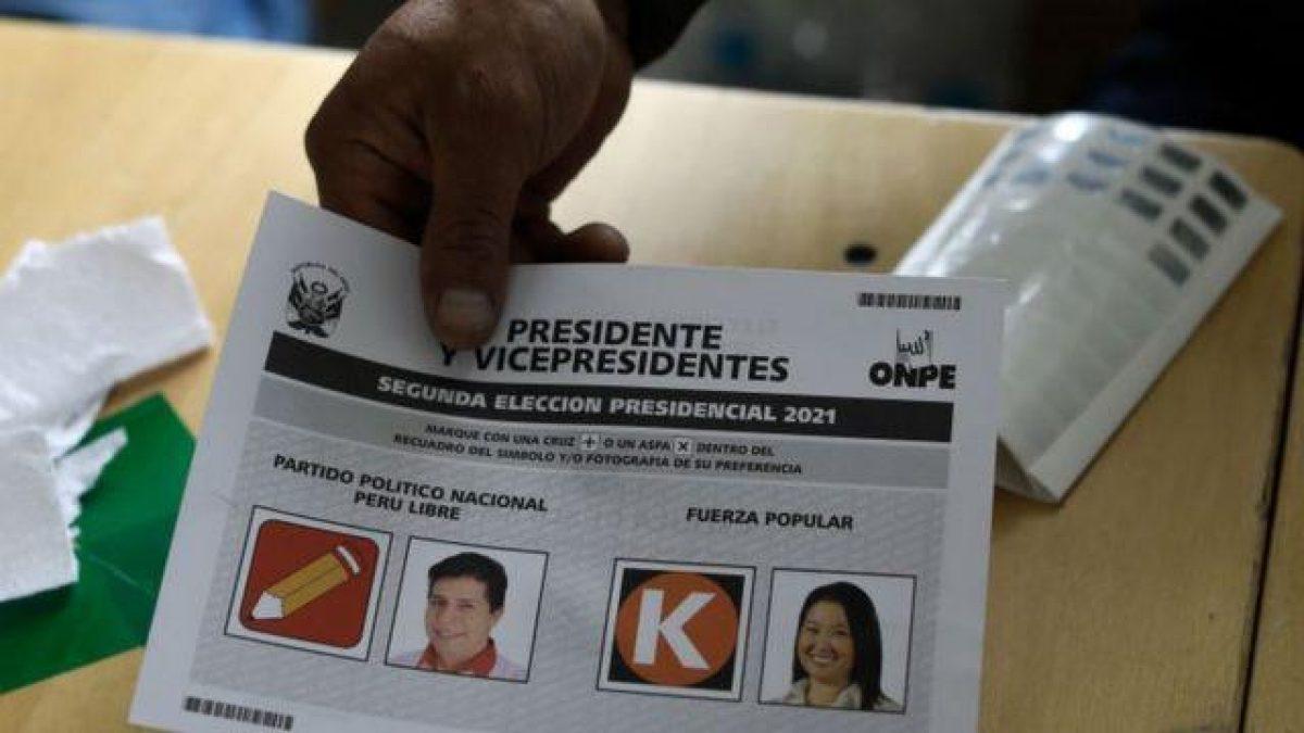 Así está el conteo de votos en Perú para conocer al nuevo Presidente