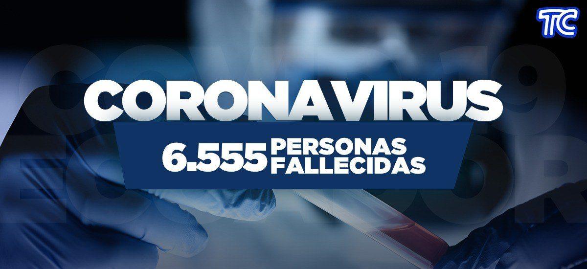 ATENCIÓN | Se registran 6.555 fallecidos por coronavirus en Ecuador