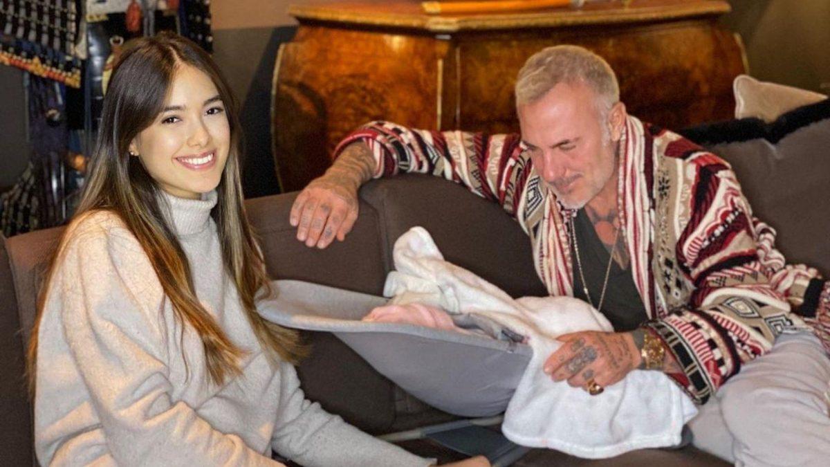 El conmovedor video de Gianluca Vacchi alimentando a su hija