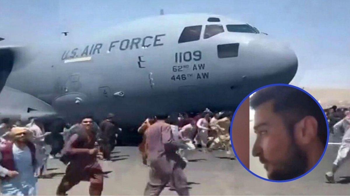 VIDEO: Hombre se grabó mientras intentaba huir de Afganistán