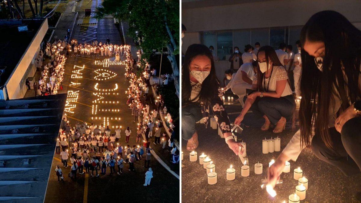 Emotiva oración del personal y familiares de pacientes del Hospital Teodoro Maldonado Carbo
