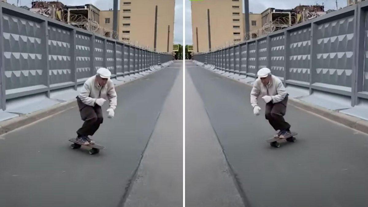 'Skater' ruso de 73 años sorprende con sus habilidades