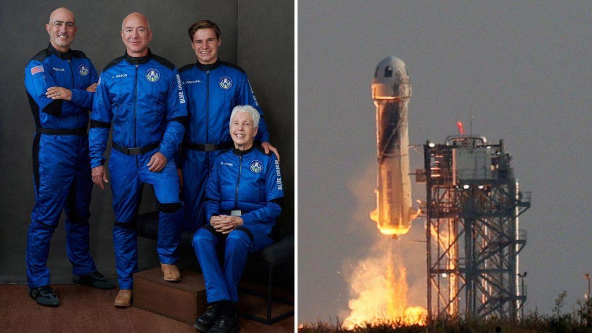 Así fue el viaje espacial del multimillonario Jeff Bezos