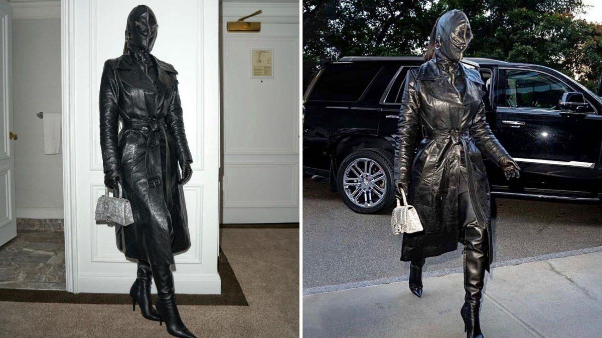 """La máscara de cuero de Kim Kardashian que causa """"terror"""" entre su fans"""