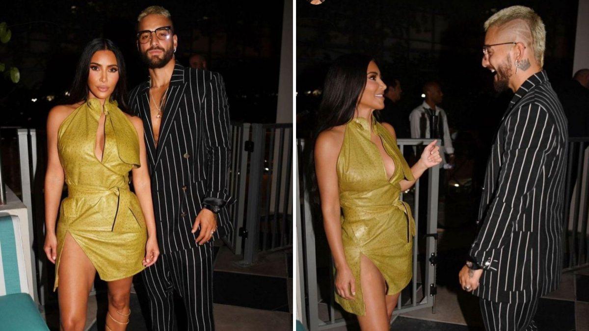Kim Kardashian y Maluma de fiesta juntos en un evento repleto de celebridades