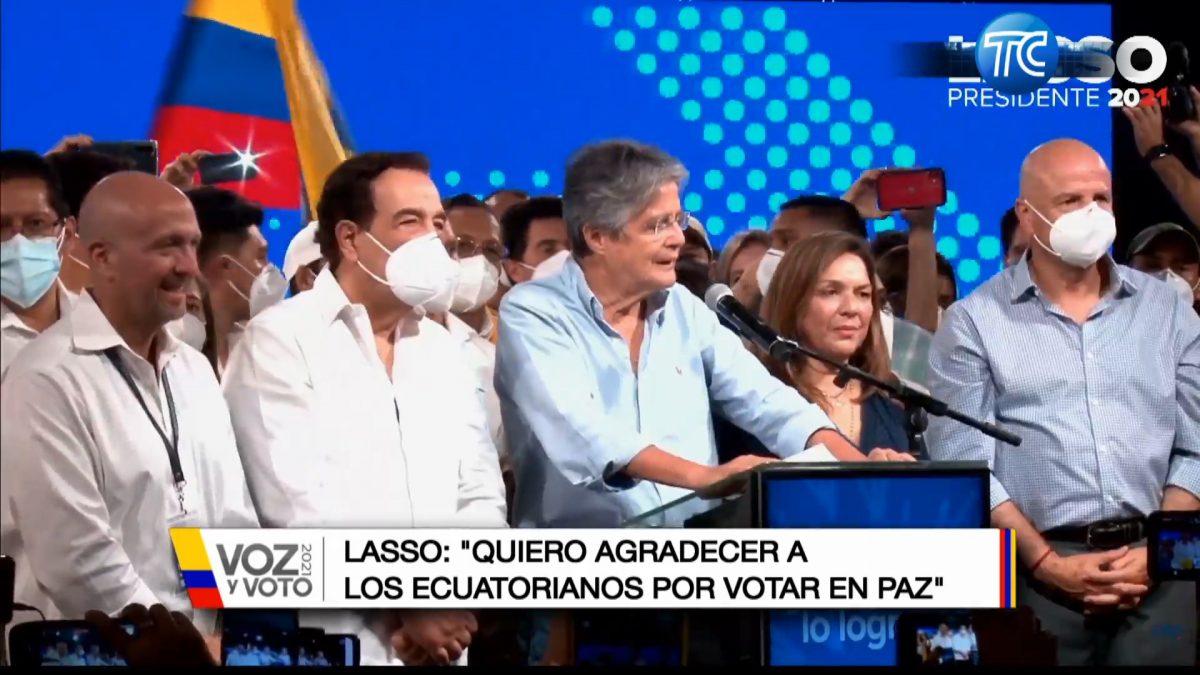 Guillermo Lasso es el presidente electo de los ecuatorianos