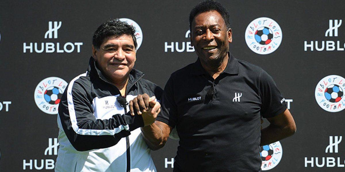 """""""Un día jugaremos juntos en el cielo"""": Pelé lamenta la muerte de Maradona"""