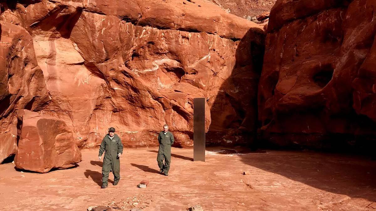 Desaparece el misterioso monolito metálico hallado en el desierto de Utah