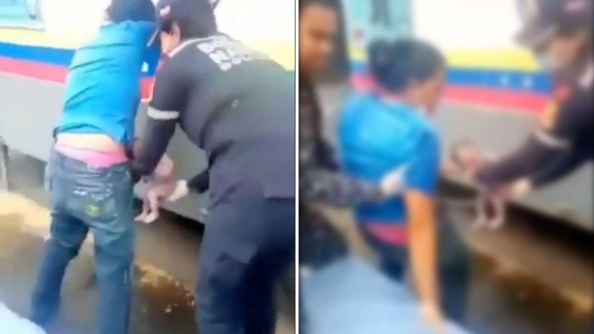 Mujer dio a luz frente a una estación policial en Venezuela
