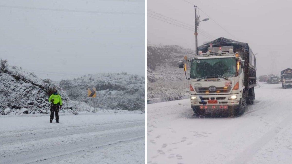 IMÁGENES   Autoridades reportan una nevada en el centro del país