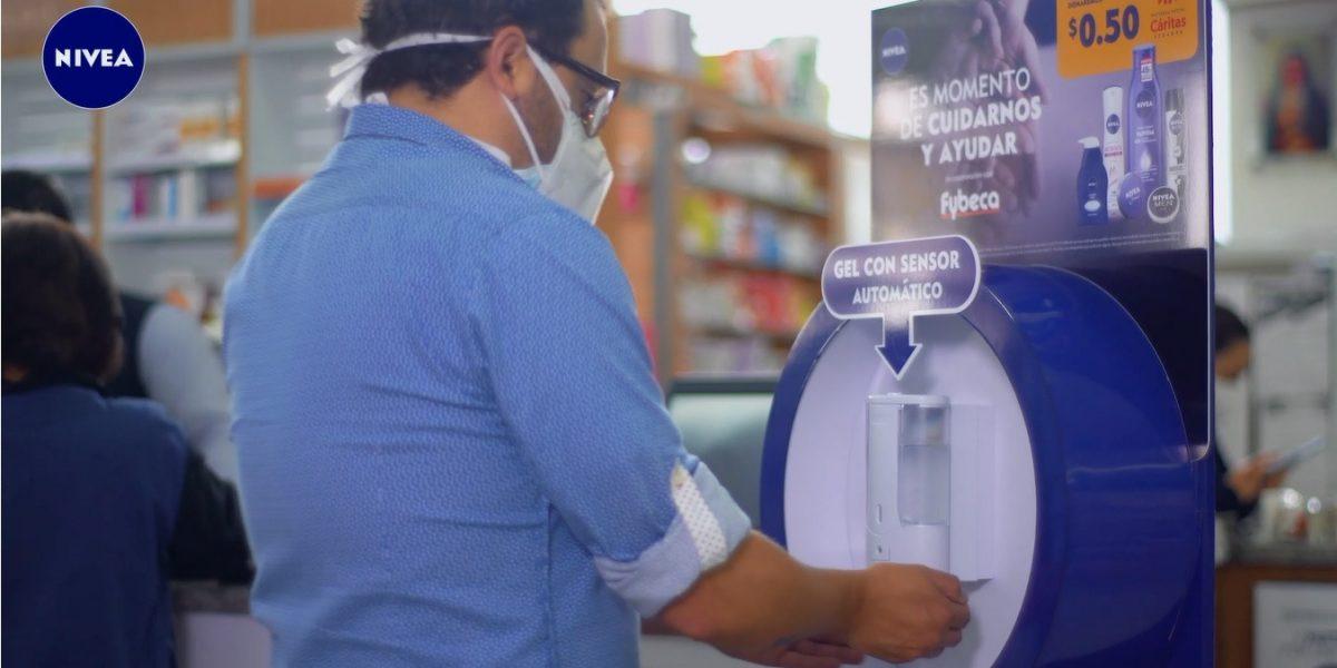VIDEO   Nivea crea las 'Estaciones Seguras' como puntos de desinfección para los usuarios