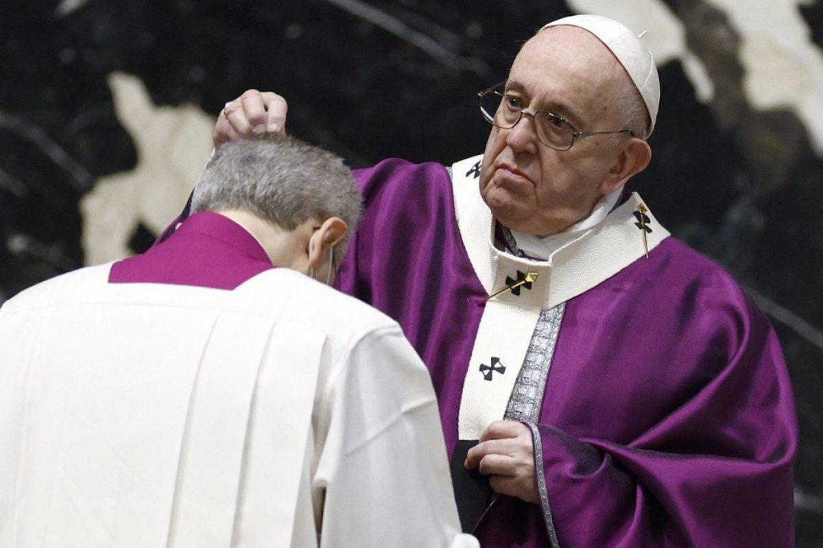 El Papa Francisco realizó la misa del Miércoles de Ceniza