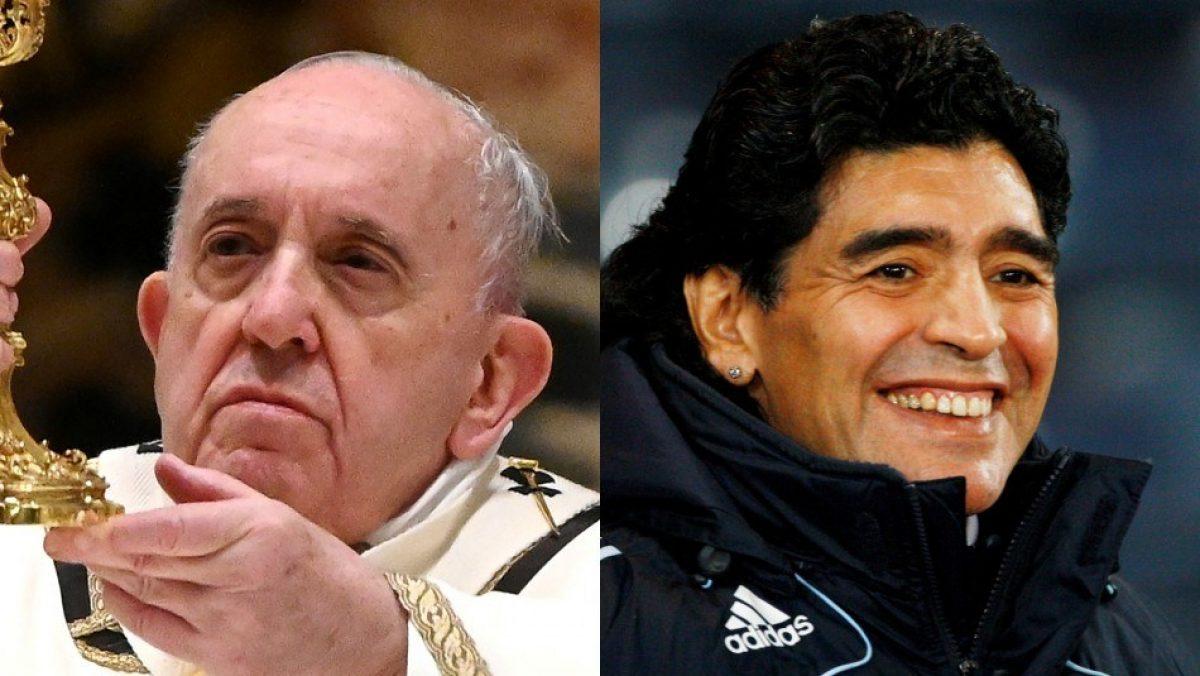 """Papa Francisco califica a Maradona como """"poeta"""" y también como """"un hombre muy frágil"""""""