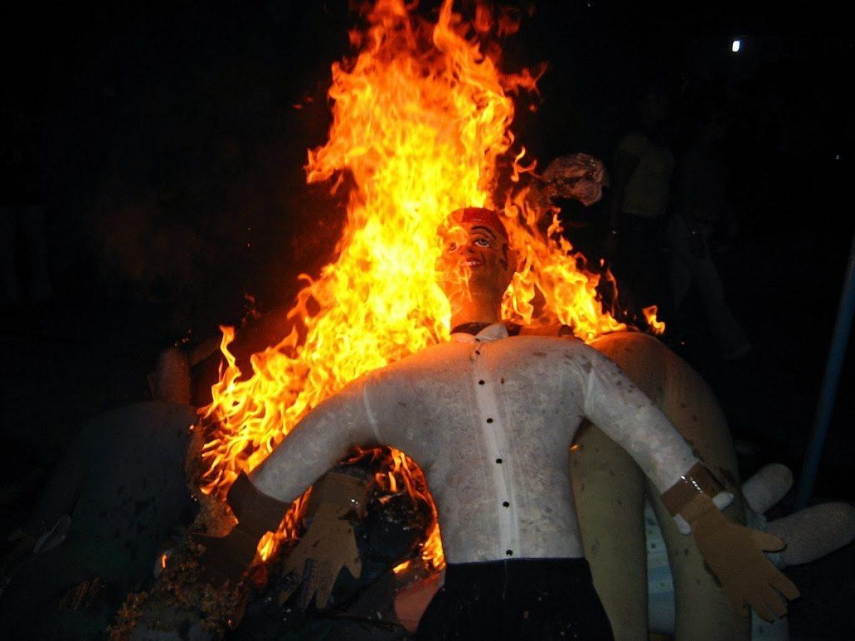 Se prohíbe la quema de monigotes en todo el Ecuador