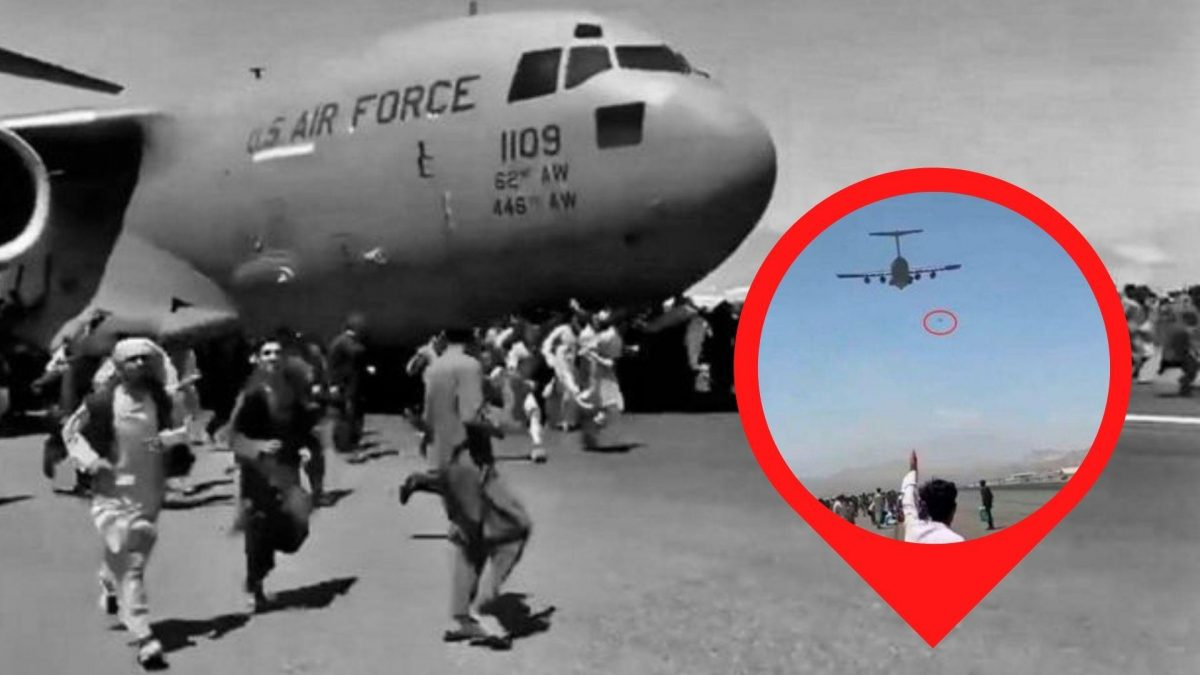 Afganistán: hallan restos humanos en motor de avión militar