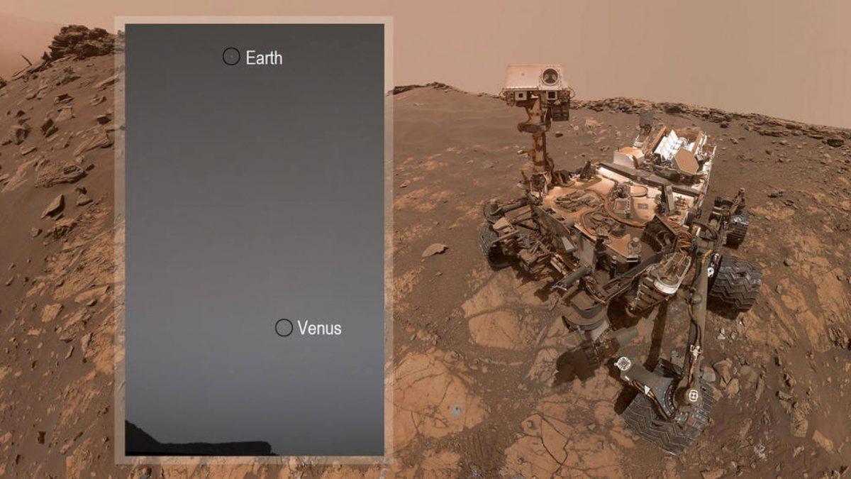 Así se ve la Tierra y Venus desde Marte