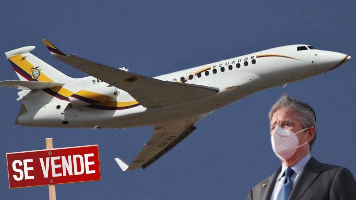 Avión presidencial de Ecuador es puesto en venta
