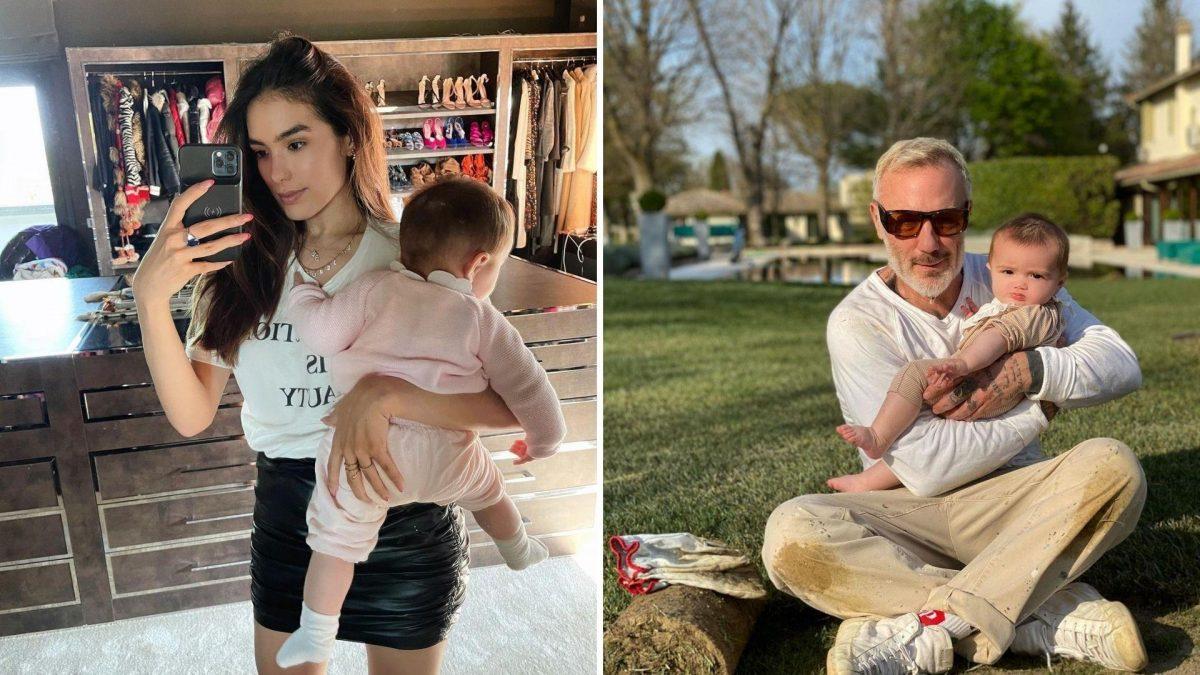 Así luce la hija de Sharon Fonseca y Gianluca Vacchi en sus 7 meses