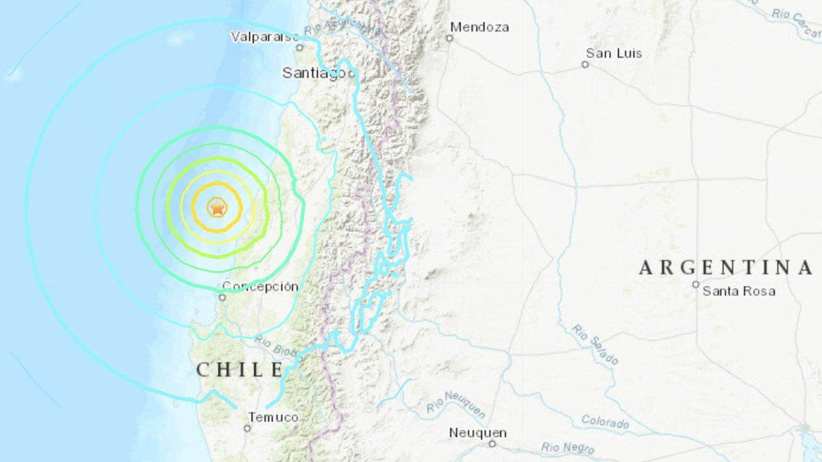 ¡Alerta! Fuerte sismo sacudió  Chile