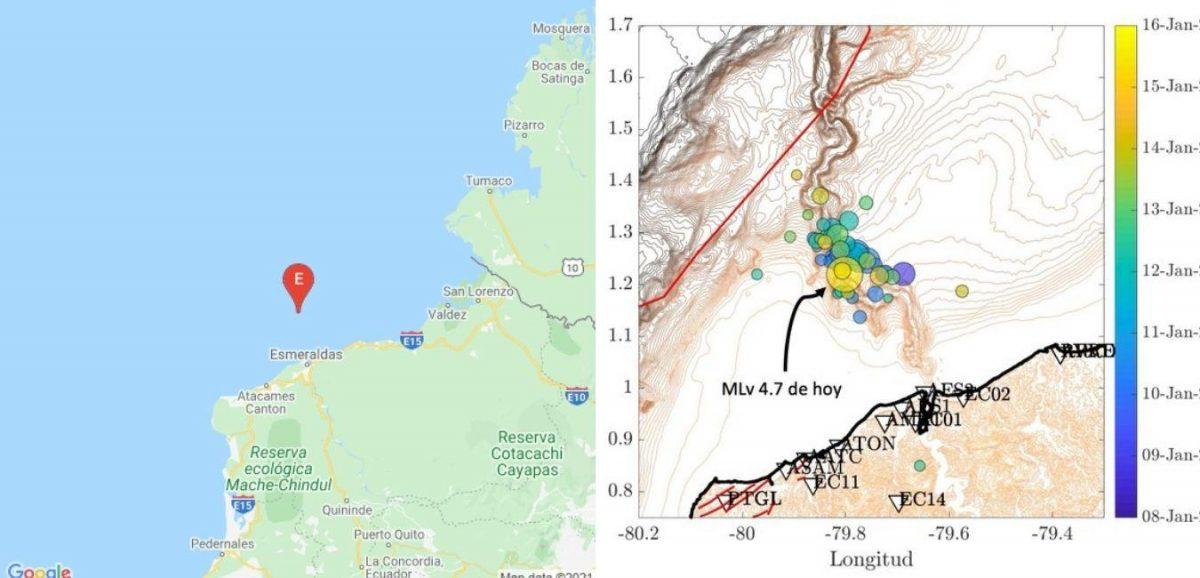 Servicio Nacional de Riesgos se pronuncia sobre los sismos registrados hoy en Esmeraldas