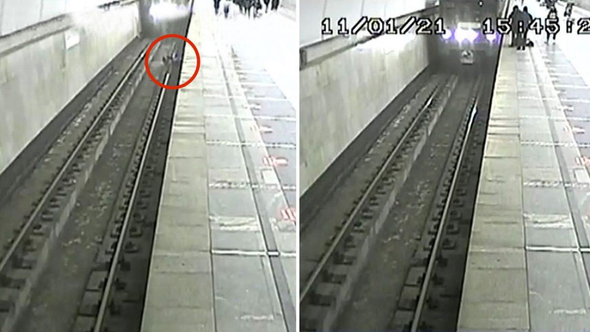 VIDEO | Tren se detiene tras la caída de un niño a las vías