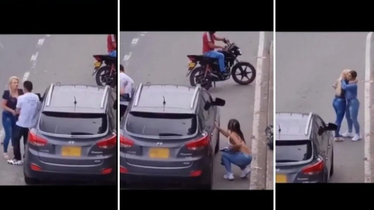 Su novia casi lo descubre siendo infiel con su mejor amiga y el video se hace viral