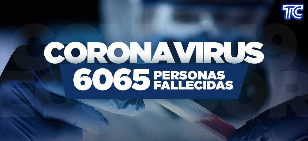 ATENCIÓN | Se registran 6.065 fallecidos por coronavirus en Ecuador