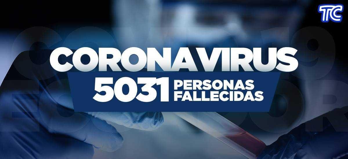 ATENCIÓN | Se registran 5.031 fallecidos por coronavirus en Ecuador