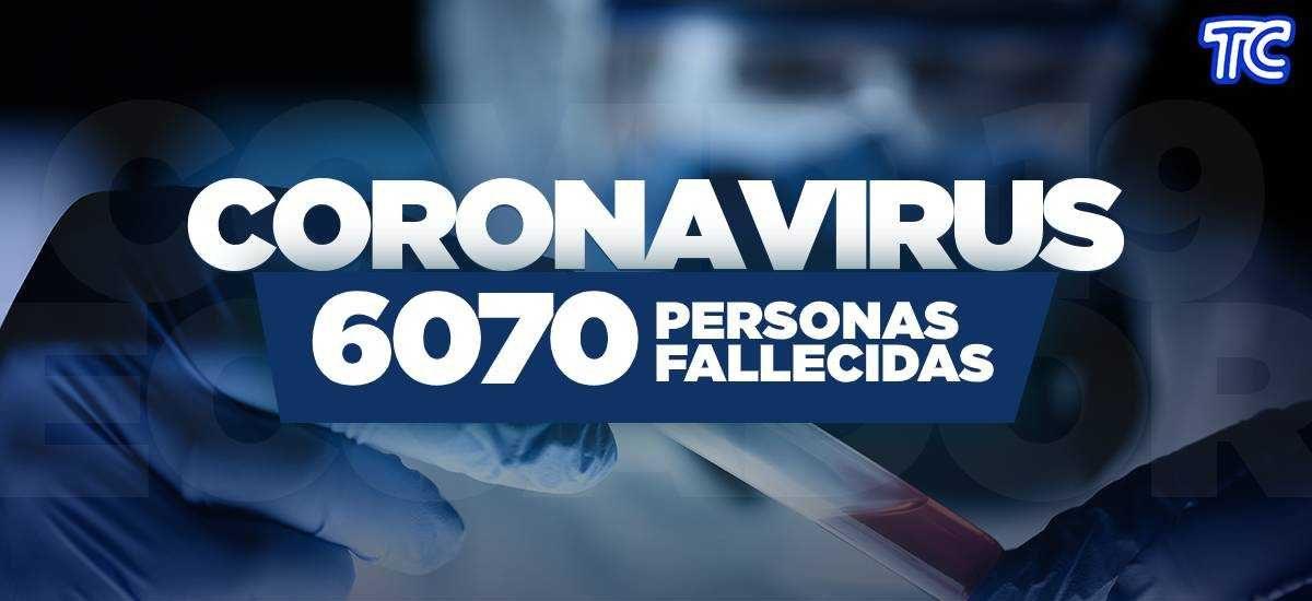 ATENCIÓN | Se registran 6.070 fallecidos por coronavirus en Ecuador