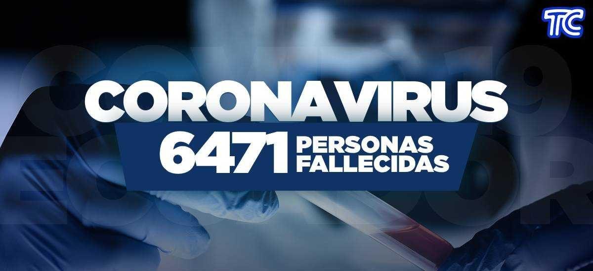 ATENCIÓN | Se registran 6.471 fallecidos por coronavirus en Ecuador