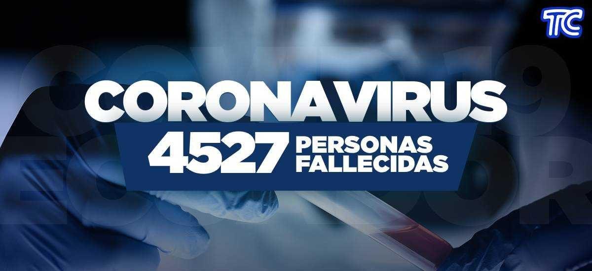 ATENCIÓN | Se registran 4.527 fallecidos por coronavirus en Ecuador