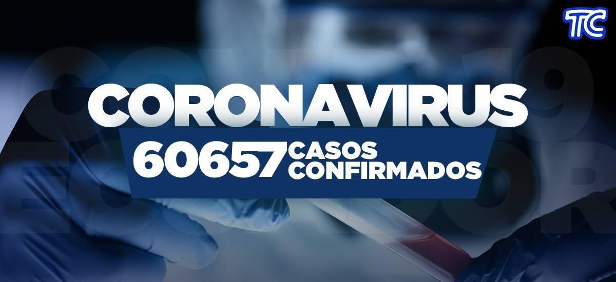 ¡ÚLTIMA HORA! Se reportan 60.657 casos de covid-19 en Ecuador