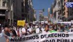 VIDEO | Médicos y enfermeros marcharon por sus derechos en Madrid