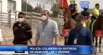VIDEO: La Policía entrega ayuda en zonas rurales de Pichincha