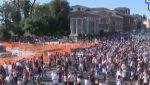 VIDEO   Ciudadanos de Roma manifestaron contra el uso de la mascarilla y posible vacuna del covid-19