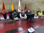 La Secretaría de Gestión de Riesgos coordinó acciones ante la caída de ceniza del volcán Sangay