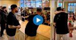 VIDEO |Nicky Jam regaló dinero junto a un joven millonario en un local de comida