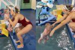 ¡POLÉMICO! Mujer lanza con fuerza a su bebé a la piscina por varios segundos