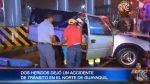 VIDEO | Así fue el primer accidente por la intensa lluvia en Guayaquil