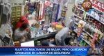 VIDEO | Delincuentes asaltan un bazar y son grabados por cámaras de seguridad