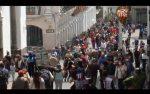 VIDEO | Aglomeraciones en Quito debido a las compras navideñas