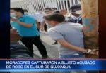 VIDEO | Insultan y golpean contra un poste a presunto ladrón