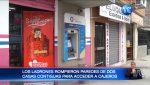 Roban dinero de dos cajeros automáticos desde el interior de un domicilio