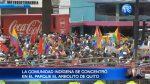 """Movilización indígena """"por la transparencia en Democracia"""" llegó hasta el CNE"""