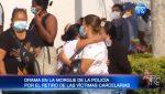Drama y dolor en los exteriores de la morgue de la Policía en Guayaquil.