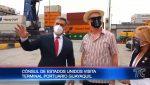 Cónsul de EE.UU. en Guayaquil recorrió la terminal portuaria