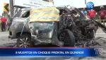 Trágico accidente de tránsito en Quinindé deja a 8 personas muertas